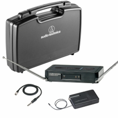 AUDIO-TECHNICA PRO-301/G-T2 Pro Series 3 Wireless System includes: PRO-R300 receiver and PRO-T301 UniPak transmitter with AT-GcW guitar/instrument input cable, 169.505 MHz,,