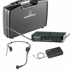 AUDIO-TECHNICA PRO-301/H-T2 Pro Series 3 Wireless System includes: PRO-R300 receiver and PRO-T301 UniPak transmitter with PRO 8HEcW headworn microphone, 169.505 MHz,,