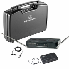 AUDIO-TECHNICA PRO-301/L-T2 Pro Series 3 Wireless System includes: PRO-R300 receiver and PRO-T301 UniPak transmitter with lavalier microphone, 169.505 MHz,,