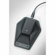AUDIO-TECHNICA U851RO Omnidirectional condenser boundary microphone with integral power module, phantom power only