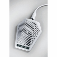 AUDIO-TECHNICA U851RW Cardioid condenser boundary microphone with integral power module, phantom power only, white
