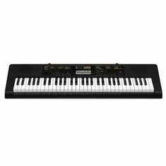 CASIO CTK2400 61 Piano-style keys, 48 note polyphony, 400 Tones, 150 Rhythms, 110 Songs, Sound EFX Sampler, Built-in Mic, Digital effects, USB MIDI, Step Up Lesson function.