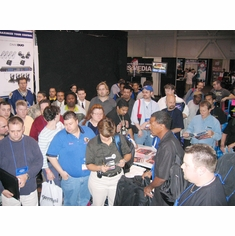 Convention Crowd At The Booth