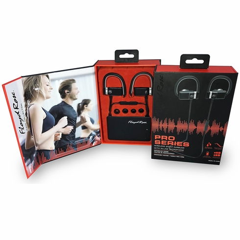 FLOYD ROSE AUDIO FR-360 BK Wireless Sport Earbuds with In-Line Microphone (Black)