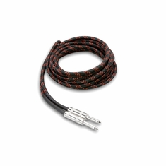HOSA TECHNOLOGY 3GT-18C5 Cloth Guitar Cable, Hosa Straight to Same, 18 ft, BK/RD