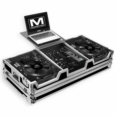 "MARATHON � FLIGHT ROAD CASE � CASE COFFIN HOLDS 2 X LARGE FORMAT CD PLAYERS: DENON SC3900 + 10"" MIXER: DNX600, DNX120, TTM57SL, DJM350, RANE SIXTY-ONE + LAPTOP SHELF W/ LOW PROFILE WHEELS"