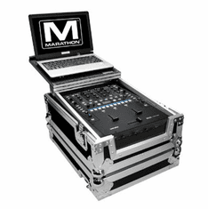 MARATHON � FLIGHT ROAD CASE � CASE TO FIT ONE RANE SIXTY-TWO or SIXTY TWO Z SERATO MIXER CONTROLLER OR ANY EQUAL SIZE MIXER + LAPTOP SHELF