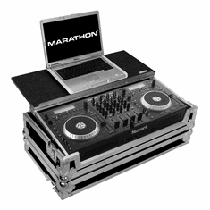 MARATHON � FLIGHT ROAD CASE � CASE TO HOLD 1 X NUMARK MIXDECK QUAD ALL IN ONE SYSTEM SERATO CONTROLLER + LAPTOP SHELF