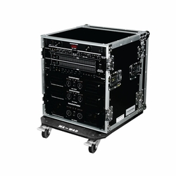 MARATHON FLIGHT ROAD CASE MA-12UADW 12u Amplifier Deluxe 18-Inch Body Depth Case with Wheels