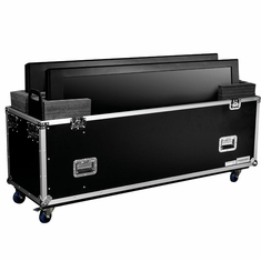 MARATHON � FLIGHT ROAD CASE � MA-2PLASMA70W UNIVERSAL CASE WITH CASTERS FOR TWO (2) PLASMA MONITORS UP TO 70 INCH