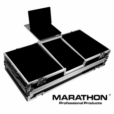 MARATHON � FLIGHT ROAD CASE � MA-2TTDJM9HWLT BATTLE COFFIN HOLDS 2 TURNTABLES IN BATTLE STYLE POSITION WITH PIONEER DJM-900 NEXUS MIXER W/ LOW PROFILE WHEELS + LAPTOP SHELF
