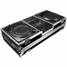 MARATHON FLIGHT ROAD CASE  MA-2TTRN61W (MA2TTRN61W) BATTLE COFFIN Holds 2 Turntables in Battle-Style Position & Fits RANE SIXTY-ONE SERATO MIXER W/ LOW PROFILE WHEELS