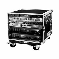 MARATHON FLIGHT ROAD CASE MA-8UADW 8u 18-Inch Amplifier Deluxe Case Body Depth with Wheels