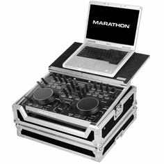 MARATHON � FLIGHT ROAD CASE � MA-DNMC2000LT CASE TO HOLD 1 X DENON DN-MC2000 MUSIC CONTROLLER + LAPTOP SHELF