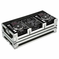 """MARATHON � FLIGHT ROAD CASE � MA-DNSX1200 � Coffin Holds 2 x Small Format CD Players such as: Denon-DN-S1000, DN-S1200 plus 10"""" mixer: Denon DN-X100, DN-X120 or any equal size format CD players or mixers"""