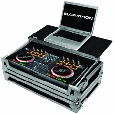 MARATHON � FLIGHT ROAD CASE � MA-MIXTRACKPRO2LT CASE TO HOLD 1 X NUMARK MIXTRACK PRO II ALL IN ONE SYSTEM + LAPTOP SHELF
