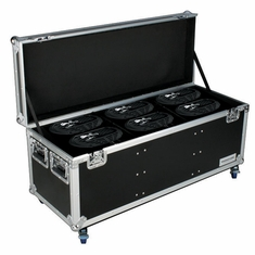 MARATHON � FLIGHT ROAD CASE � MA-SNIPER2R6PACKW CASE TO HOLD 6 X ELATION SNIPER 2R LIGHT EFFECT - STACKABLE WITH CASTER DISH PLATE