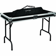 "MARATHON � FLIGHT ROAD CASE � MA-TABLE48V2 DOUBLE UNIVERSAL FOLD OUT DJ TABLE (48W 21D 30""H PER TABLE) W/ LOW PROFILE WHEELS"