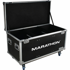 MARATHON FLIGHT ROAD CASE MA-TUT603724W Utility Trunk Case with Caster Kit and Stackable Caster Dish