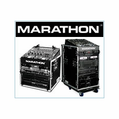 Marathon Flight Road Cases For DJ/MI Slant Mixer Combo Rack Systems