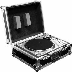 MARATHON FLIGHT ROAD CASES MA-1200B FREE SHIPPING DELUXE TURNTABLE CASE FITS TECHNICS 1200 & OTHER BRAND TURNTABLES
