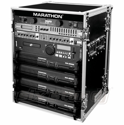 MARATHON FLIGHT ROAD CASES MA-14UAD 14U AMPLIFIER DELUXE CASE