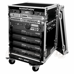 MARATHON FLIGHT ROAD CASES MA-14UADW 14U AMPLIFIER DELUXE CASE WITH WHEELS