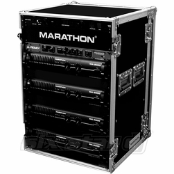 MARATHON FLIGHT ROAD CASES MA-16UAD 16U AMPLIFIER DELUXE CASE