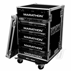 MARATHON FLIGHT ROAD CASES MA-16UADW 16U AMPLIFIER DELUXE CASE WITH WHEELS