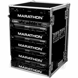 MARATHON FLIGHT ROAD CASES MA-18UAD 18U AMPLIFIER DELUXE CASE
