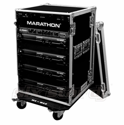 MARATHON FLIGHT ROAD CASES MA-18UADW 18U AMPLIFIER DELUXE CASE WITH WHEELS