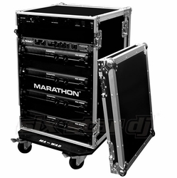 MARATHON FLIGHT ROAD CASES MA-20UADW 20U AMPLIFIER DELUXE CASE