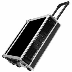 MARATHON FLIGHT ROAD CASES MA-2UADHW 2U AMPLIFIER DELUXE CASE WITH HANDLE & WHEELS