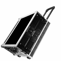 MARATHON FLIGHT ROAD CASES MA-4UADHW 4U AMPLIFIER DELUXE CASE WITH HANDLE & WHEELS
