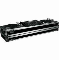 "MARATHON FLIGHT ROAD CASES MA-DJ19W, HOLDS 2 TURNTABLES IN STANDARD STYLE POSITION WITH 19"" MIXER W/ LOW PROFILE WHEELS"