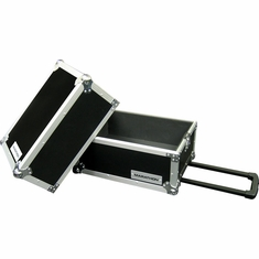 MARATHON FLIGHT ROAD CASES MA-LPHW FREE SHIPPING DELUXE LP CASE HOLDS 100 PCS. W/ HANDLE & WHEELS