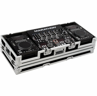 """MARATHON FLIGHT ROAD MA-CDI19W � CASE FOR 2 X AMERICAN AUDIO CDI PLAYERS+ 19"""" MIXERS WITH WHEELS"""