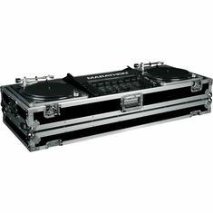 MARATHON FLIGHT ROAD MA-DJ19W HOLDS 2 TURNTABLES IN BATTLE STYLE POSITION