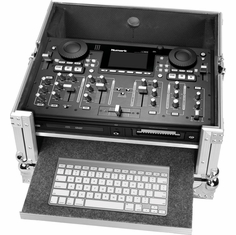 MARATHON FLIGHT ROAD MA-HDMIXV2 CASE TO HOLD 1 X NUMARK HDMIX CD MIX STATION PLUS KEYBOARD TRAY