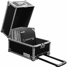 MARATHON FLIGHT ROAD MA-LPHWE Medium Duty Deluxe LP Case holds 100 Pcs. with Handles & Wheels