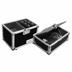 MARATHON FLIGHT ROAD MA-MIC12S MICROPHONE CASE FOR 12 MICS WITH STORAGE COMPARTMENT
