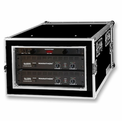 MARATHON MA-6UADSM21 6U Shock Mount - Amplifier Deluxe Case � 21-Inch Body Depth