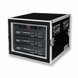 MARATHON MA-8UADSM21 8U Shock Mount - Amplifier Deluxe Case � 21-Inch Body Depth