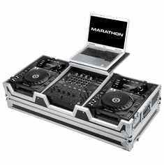 "MARATHON� MA-CDJ9H12WLT Coffin holds 2 x LARGE FORMAT CD Players: Pioneer CDJ900 + 12"" MIXER: DJM800, Behringer DJX750, DDM-4000, Denon DN-X1500, DN-X1100, DN-X1700 and Laptop Shelf w/ low profile wheels"