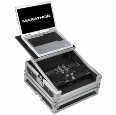MARATHON� MA-DJTIMU2LT Case to hold 1 X DJTech iMix, iMix Reload, U2 Station Digital Music Controller plus Laptop Shelf