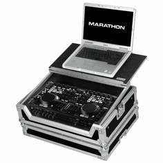 MARATHON� MA-DNMC6000LT Case to hold 1 x Denon DN-MC6000 Music Controller plus Laptop Shelf