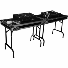 MARATHON MA-TABLEV2 DOUBLE UNIVERSAL FOLD OUT DJ TABLE W/ LOW PROFILE WHEELS - MATABLEV2