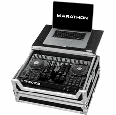 MARATHON� MA-TKS4LT Case to hold 1 x Traktor S4 Music Controller plus Laptop Shelf