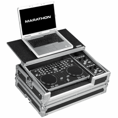 MARATHON� MA-VCIFXLT Case to hold 1 x Vestax VCI-300 Music Controller with VFX-1 plus Laptop Shelf