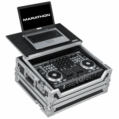 MARATHON� MA-VMS4LT Case to hold 1 x American Audio VMS4 Music Controller plus Laptop Shelf